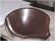 Coated mold for bra making