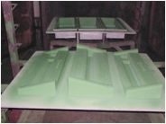 Coated mold for LCD